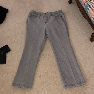 Jones New York sport stretch grey jeans